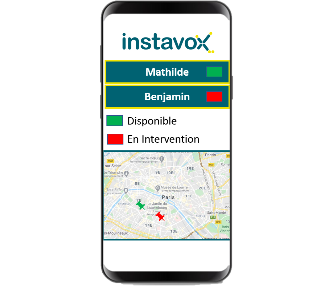 Application Talkie-Walkie - Envoi de statut